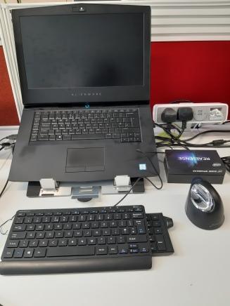 Desk setup after